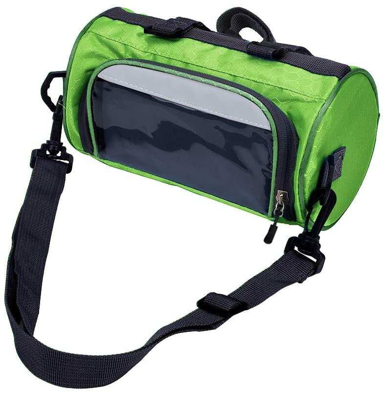 zukka bike handlebar bag green color