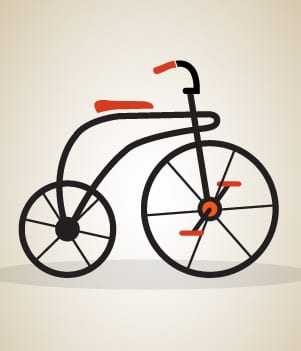 4The First Bicycle With Pedals