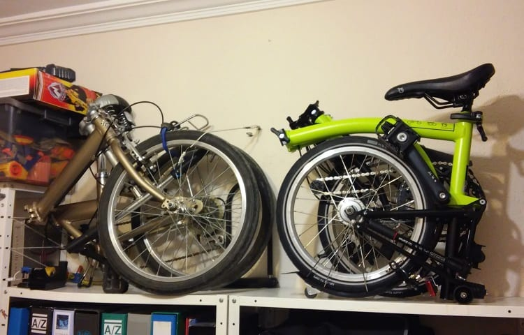 weight of folded bikes