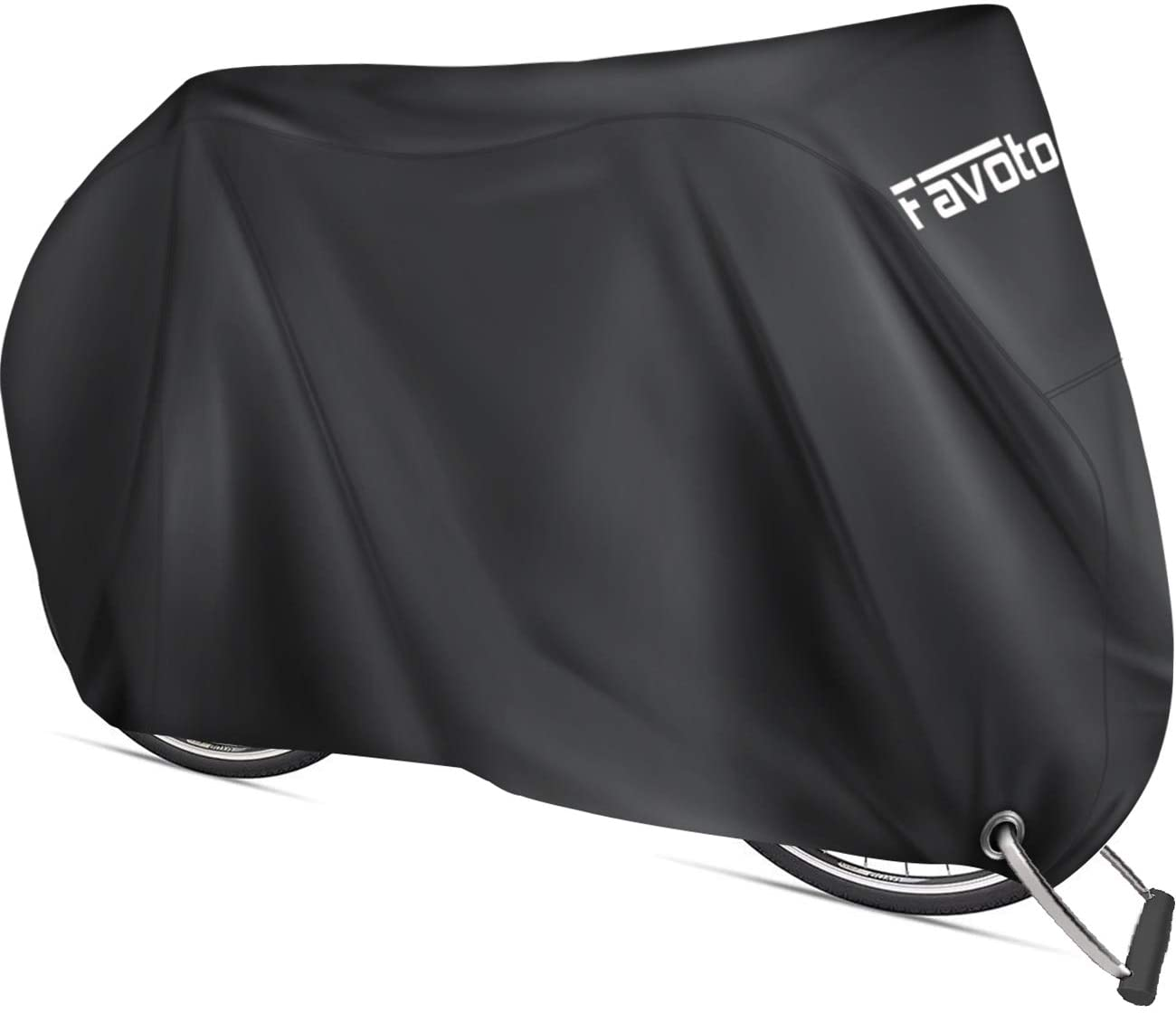 favoto bike cover black color isolated on white background
