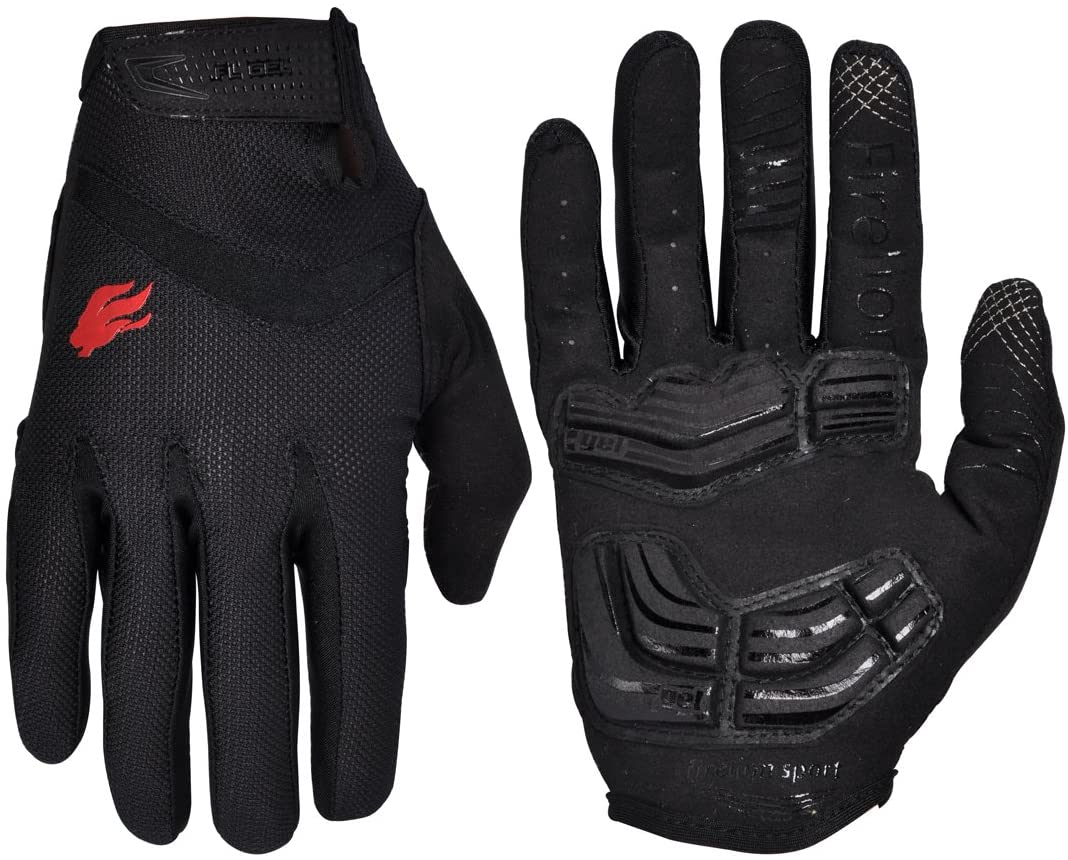 firelion cycling gloves black color isolated on white background