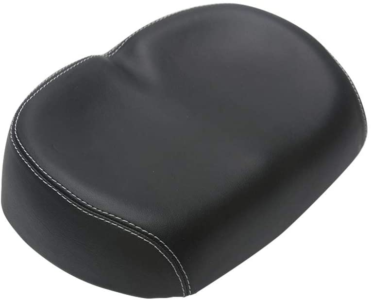 ller76 cycling soft cushion seat black isolated on white background