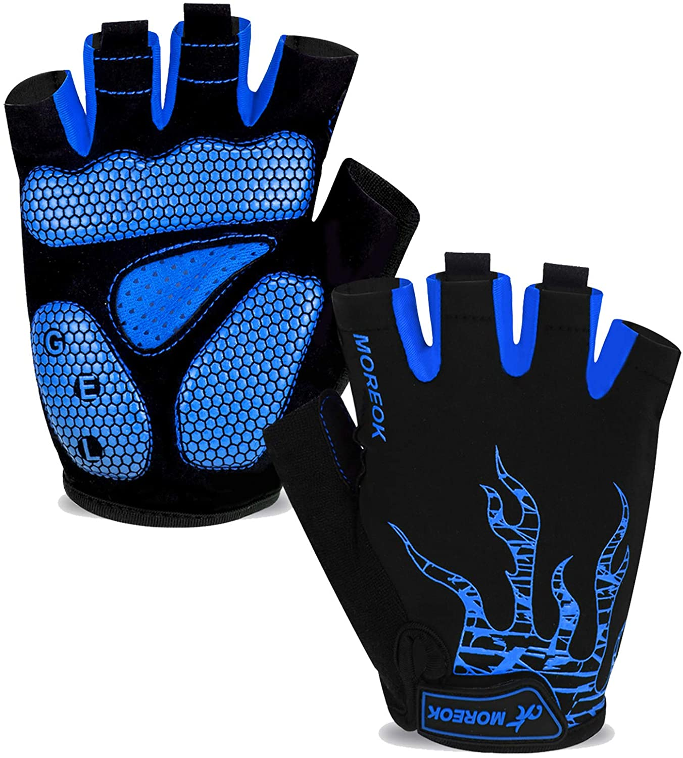 moreok mens cycling gloves black color