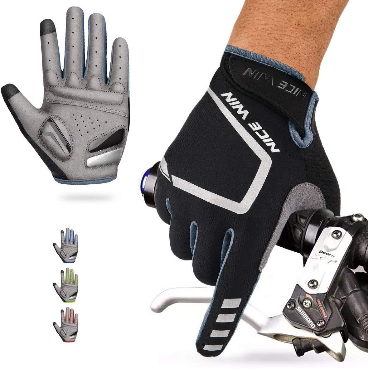 nicewin cycling gloves isolated on white background