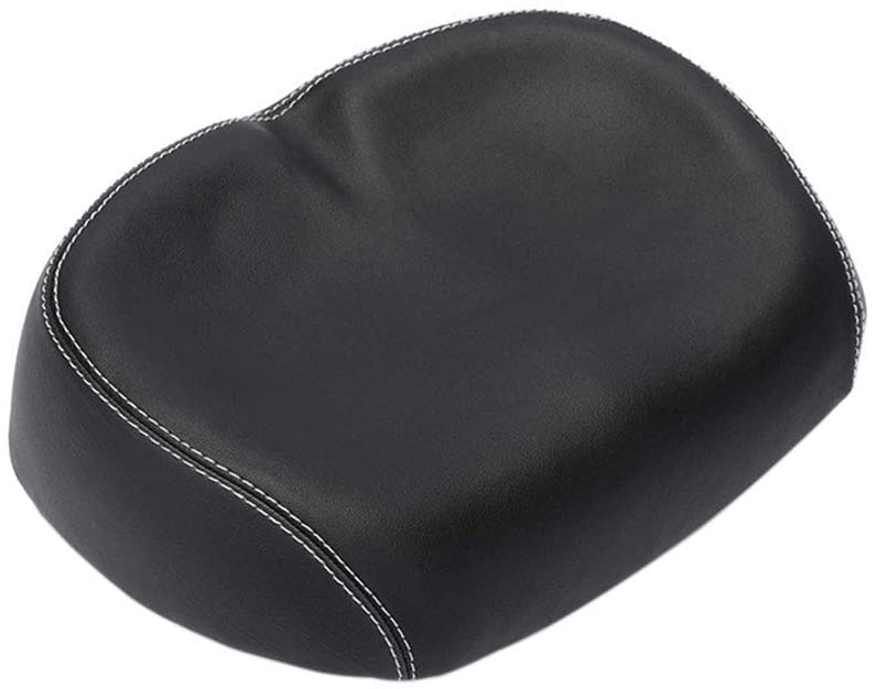 shni bicycle seat cushion black color isolated on white background