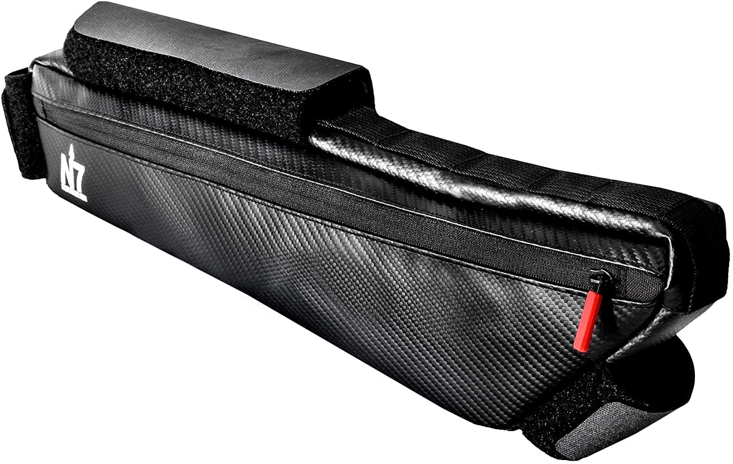 northseven xl carbon bike frame bag isolated on white background