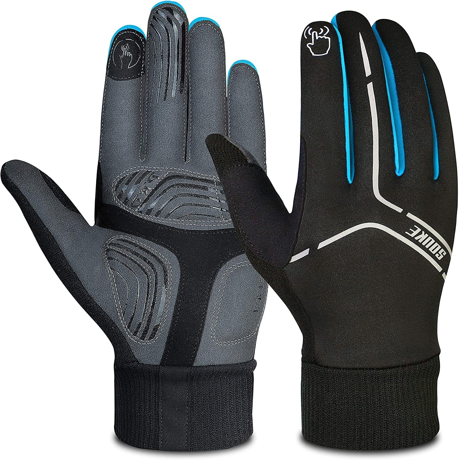 souke sports winter cycling gloves for men and women