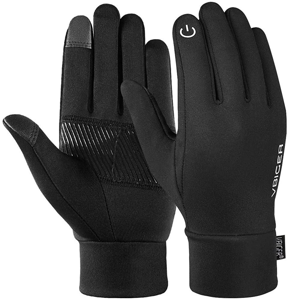 vbiger reflective sports gloves isolated on white background